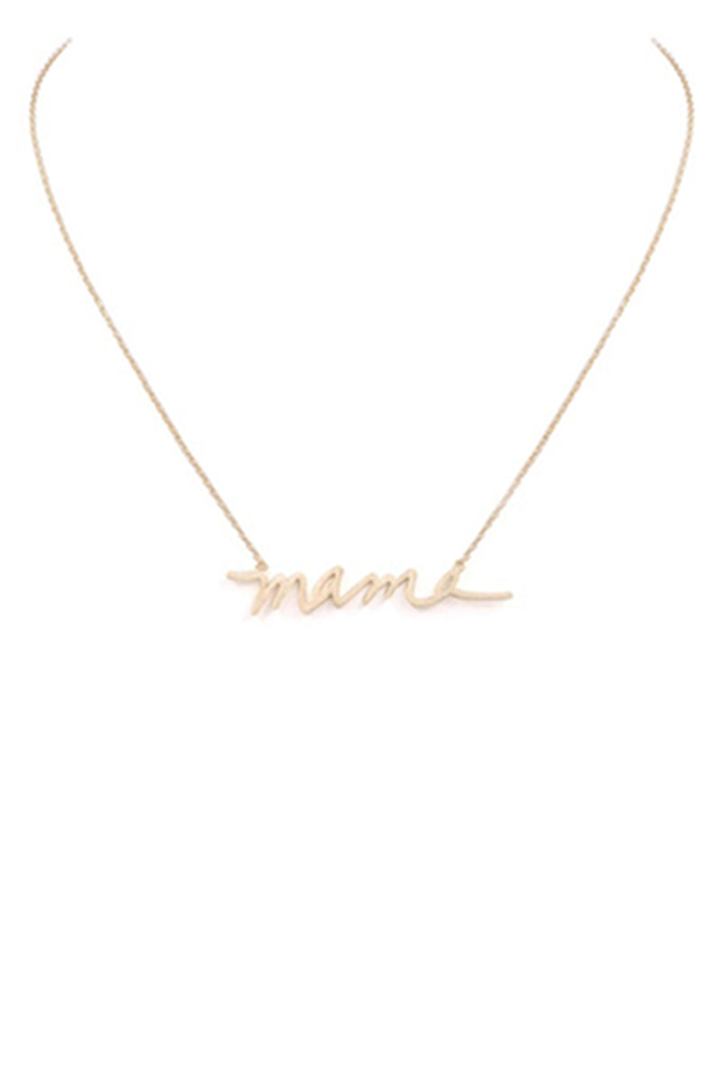 Brass Mama Necklace-Worn Gold