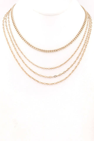 Morocan Necklace-Worn Gold