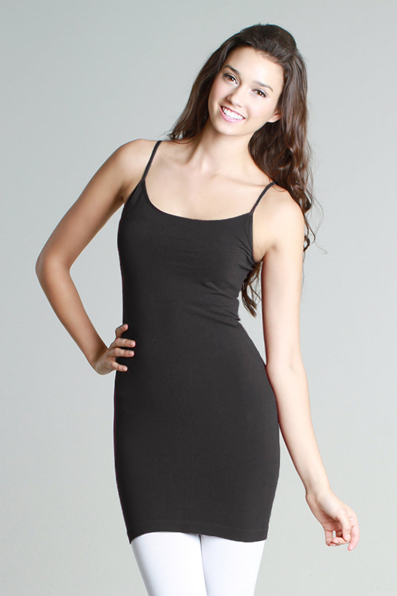Extra Length Camisole Slip - Charcoal