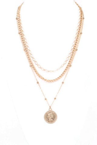 MAMA Charm Necklace-Gold