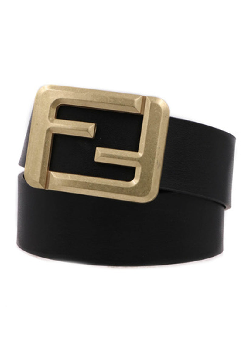 Square Buckle Belt-Black