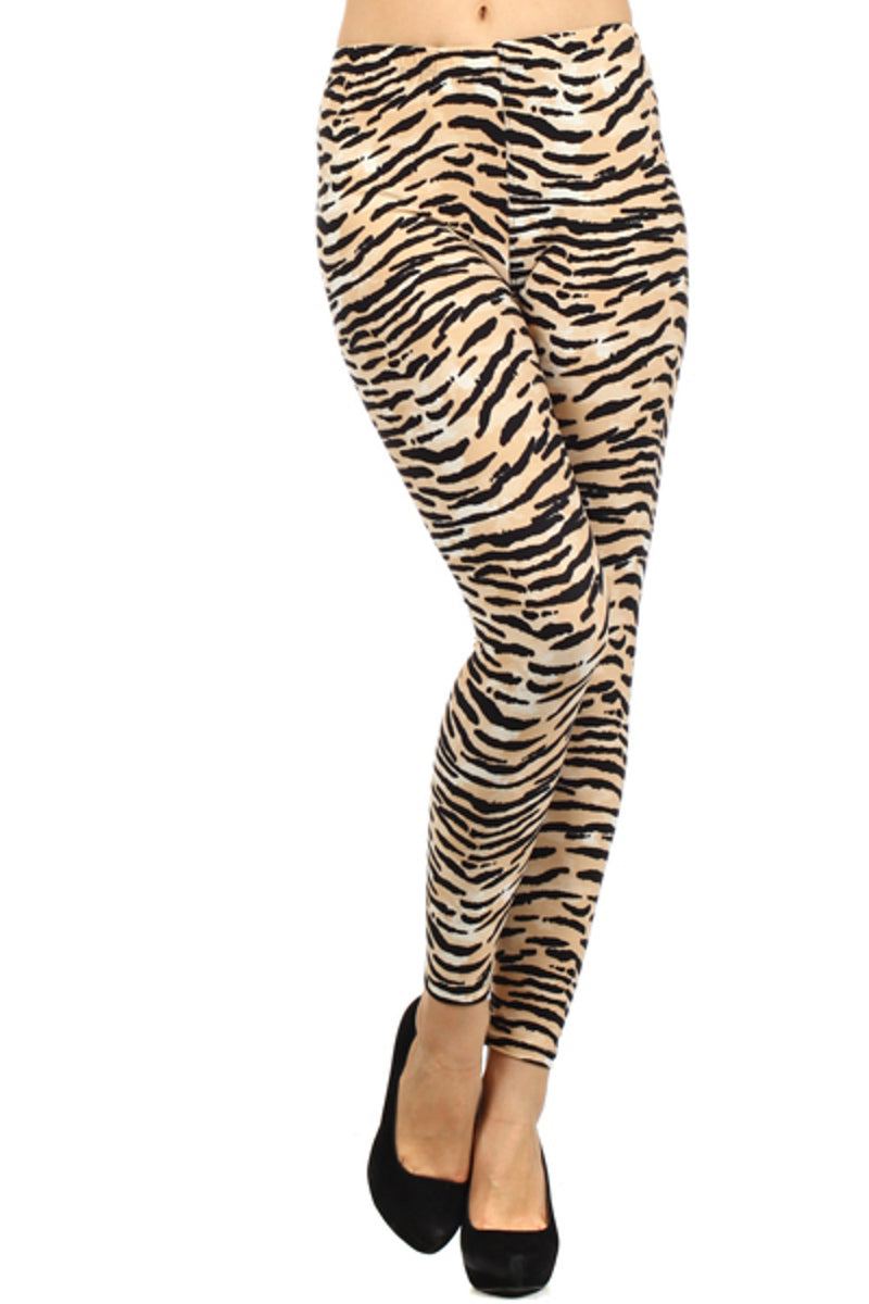 SALE- Safari Print Leggings-Tan