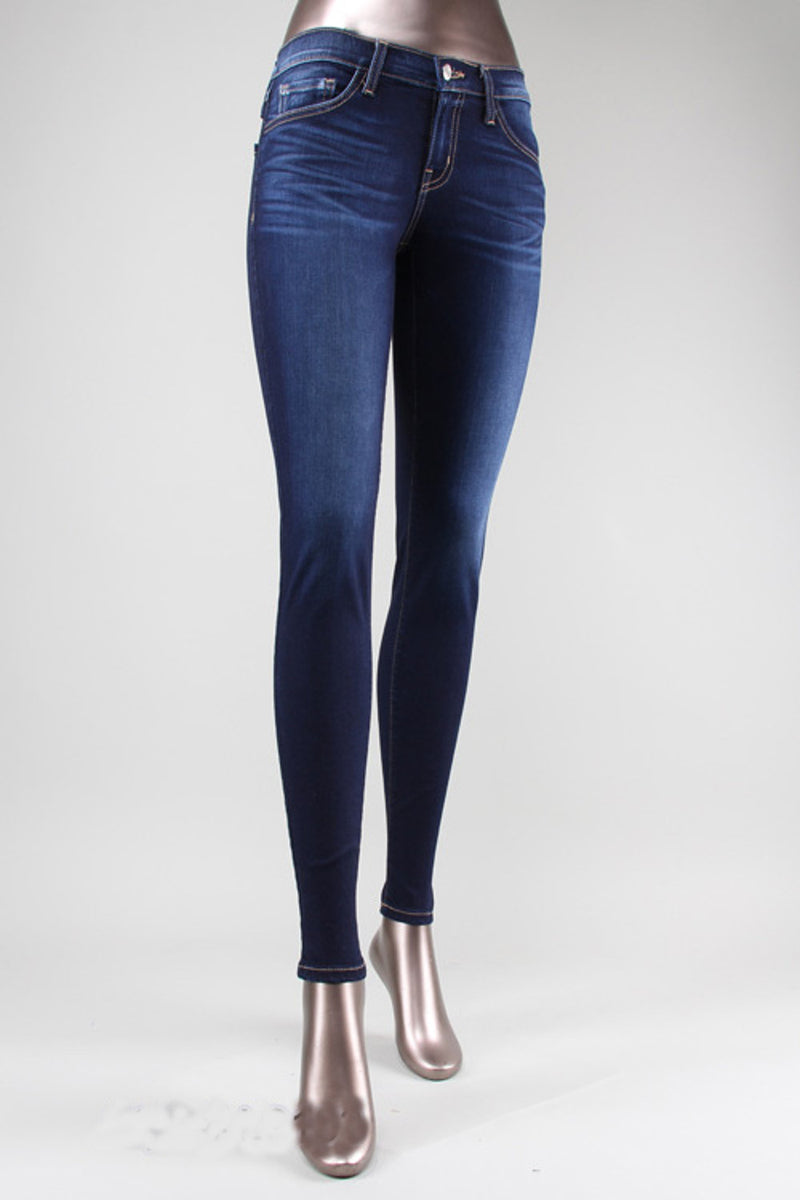 Flying Monkey-Extra Soft Skinny Jeans-Deep Blue