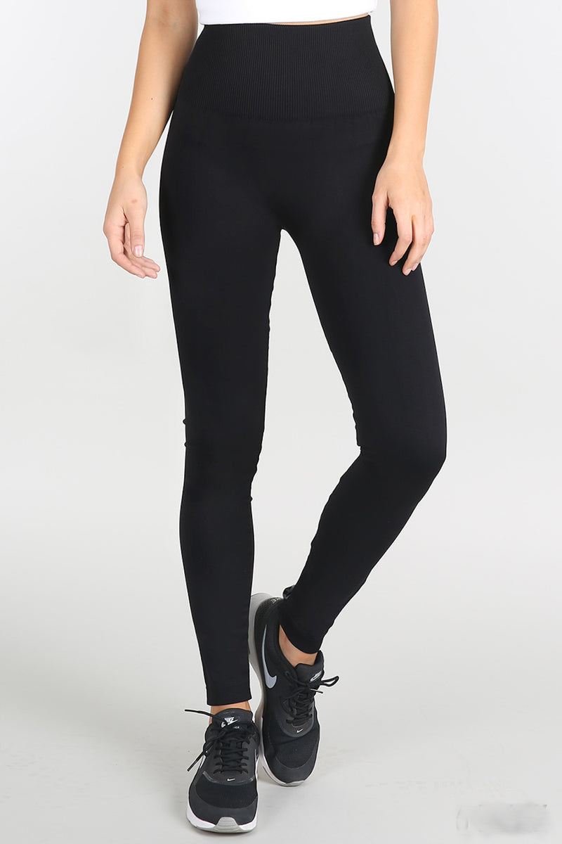 NikiBiki High Waist Band Leggings-Black