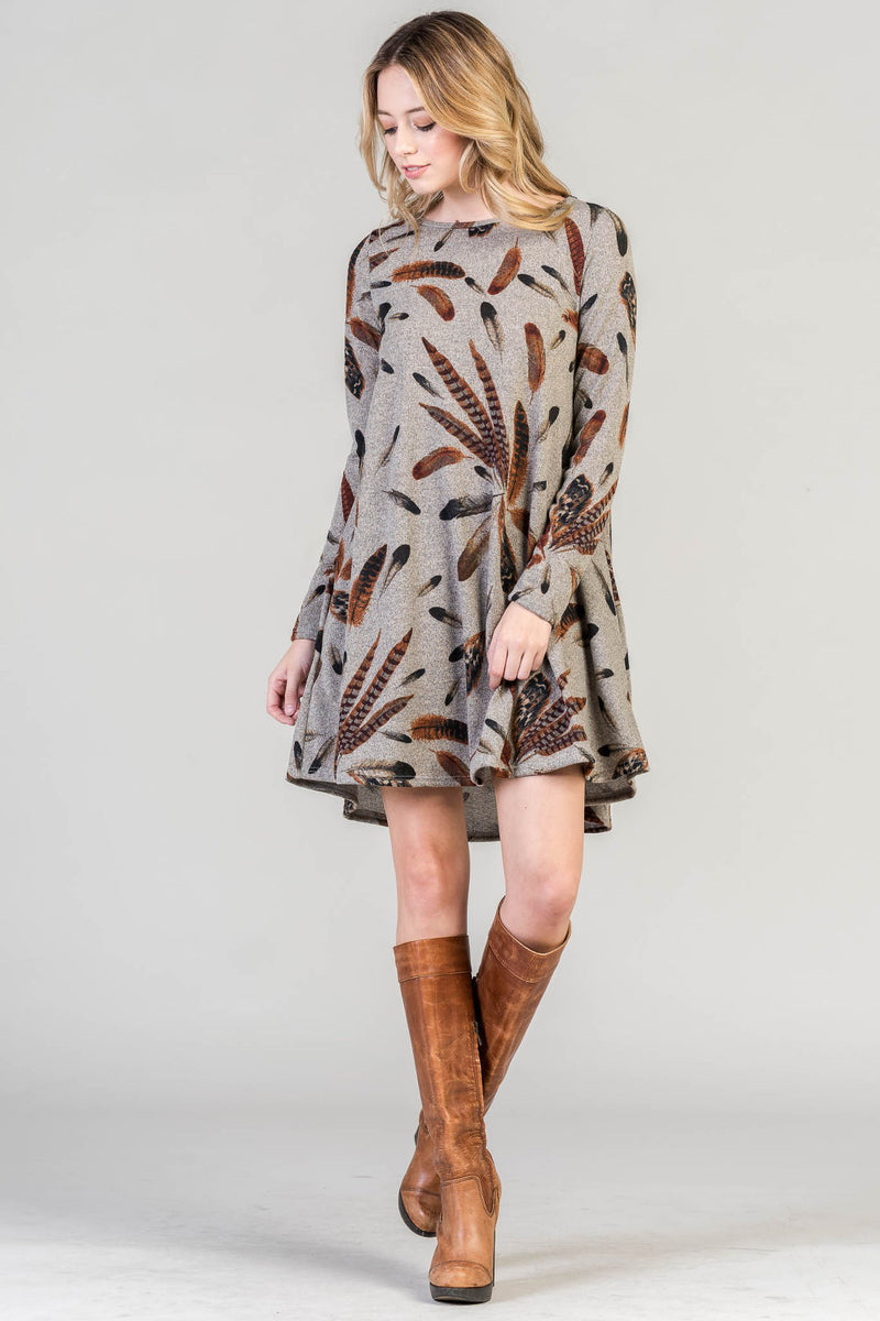 Part Of The Tribe Dress-Mocha