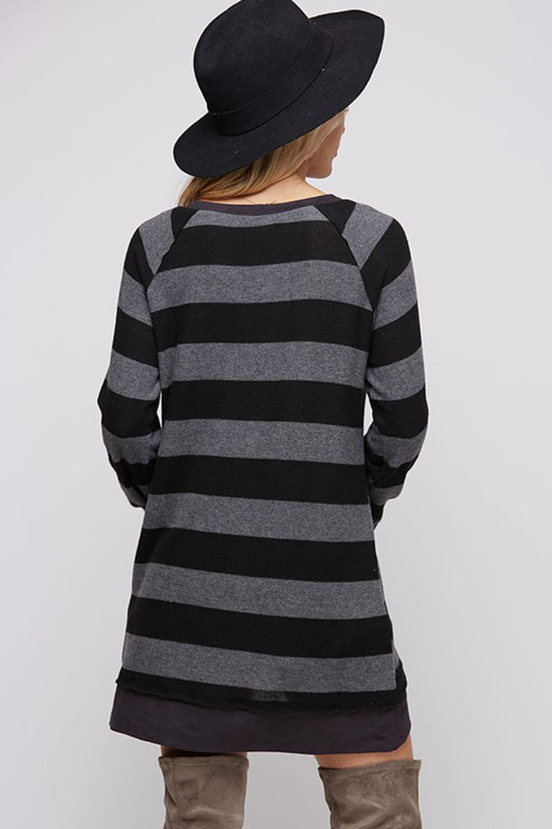 SALE-That Much Better Top-Black/Grey