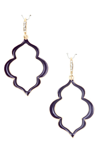 Pave All Night Long Earrings-Plum