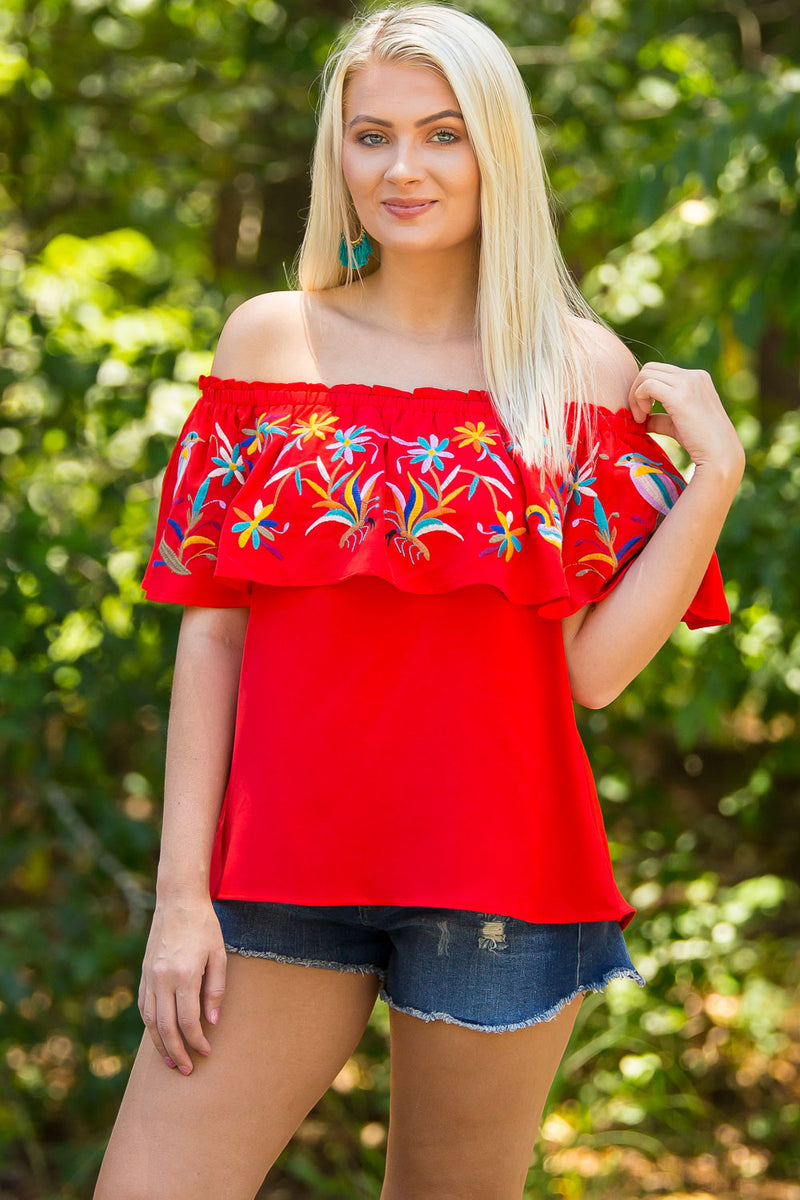 Fly Away Top-Red