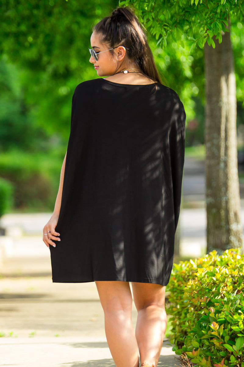 The Perfect Piko Short Sleeve Tunic-Black