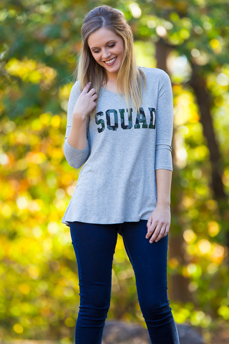 SALE-Squad Top-Heather Grey