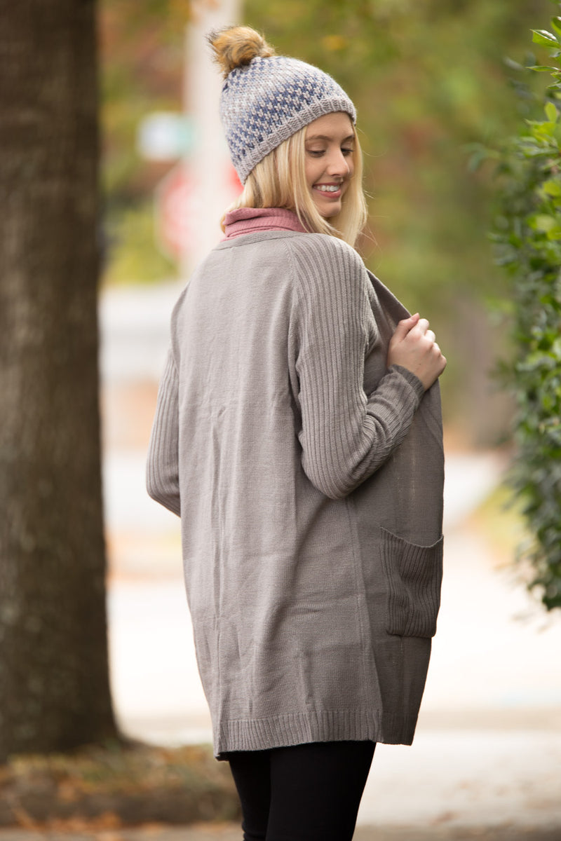 Get With The Length Cardigan - Grey