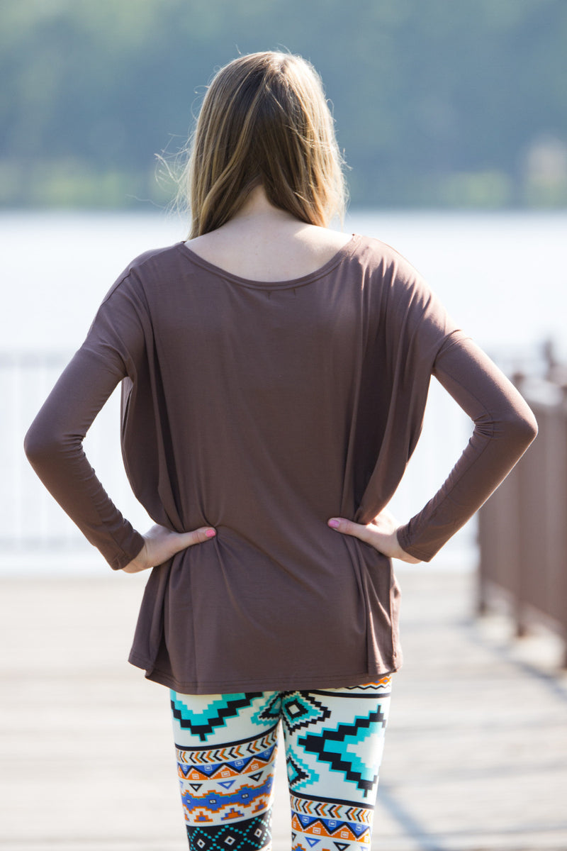 The Perfect Piko Top-Brown