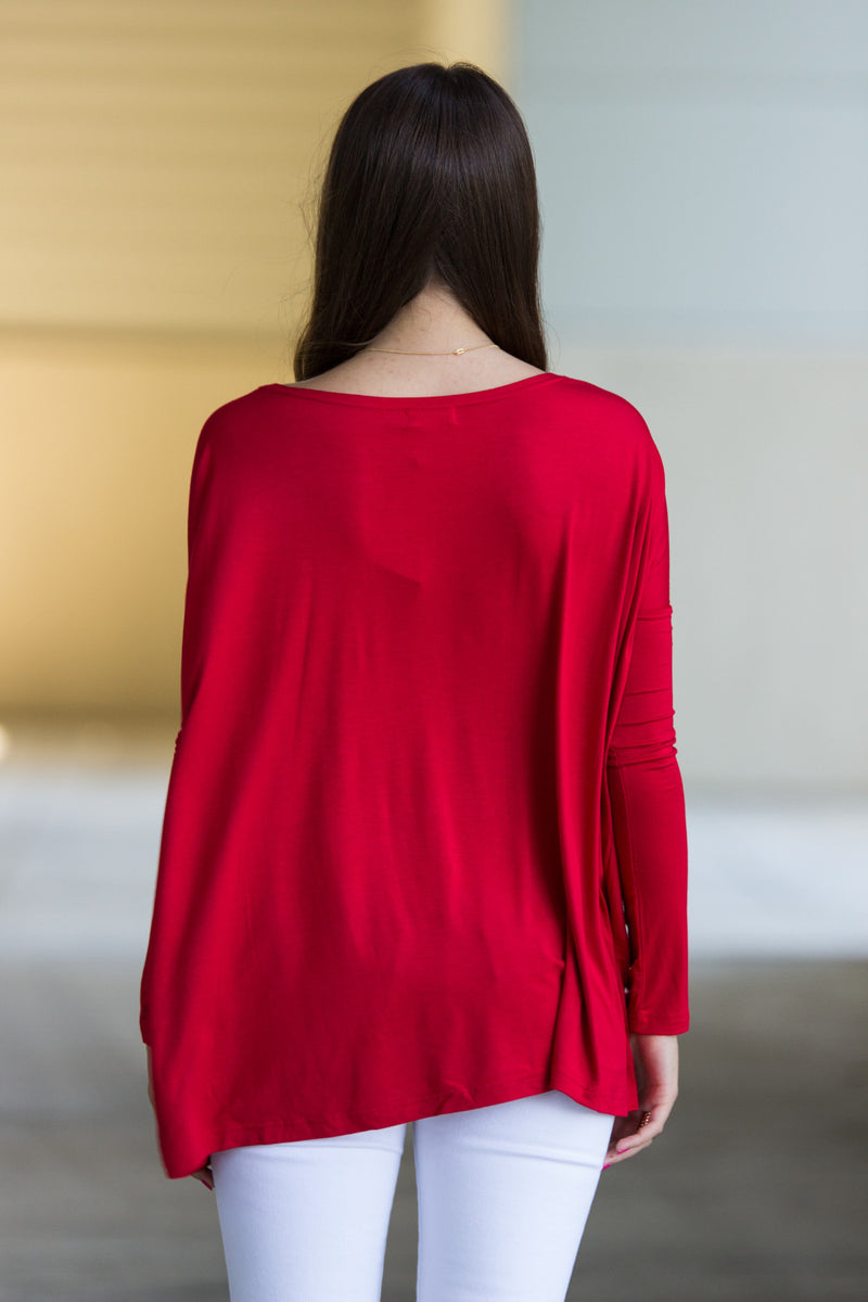 The Perfect Piko Top-Red