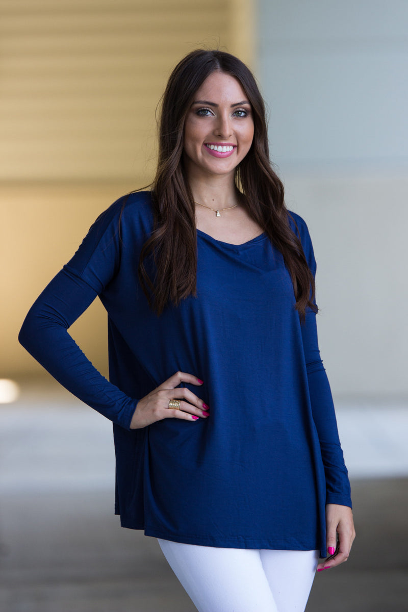 The Perfect Piko Top-Navy