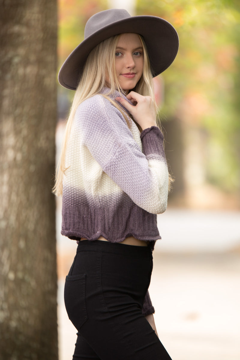 SALE-The Lila Sweater Top-Lilac