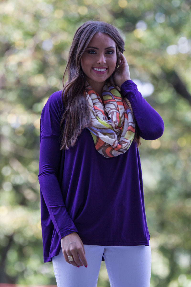 The Perfect Piko Top-Dark Purple