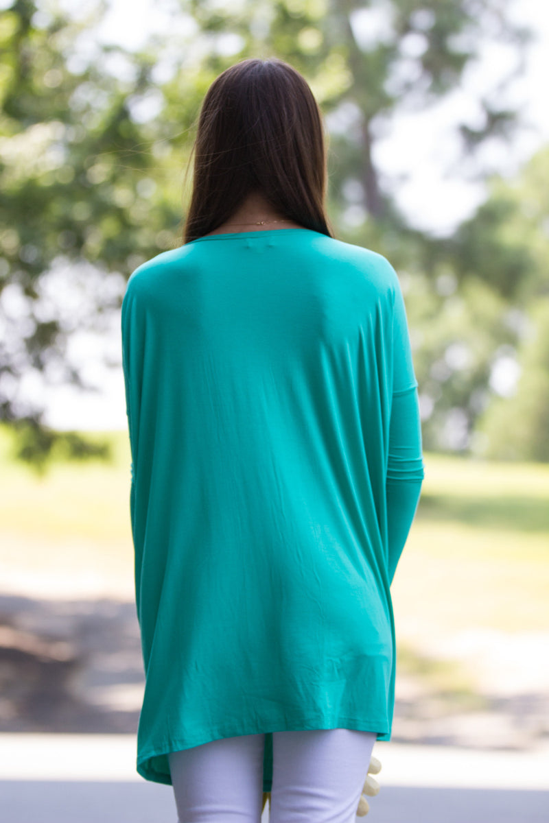 The Perfect Piko Tunic Top-Light Green