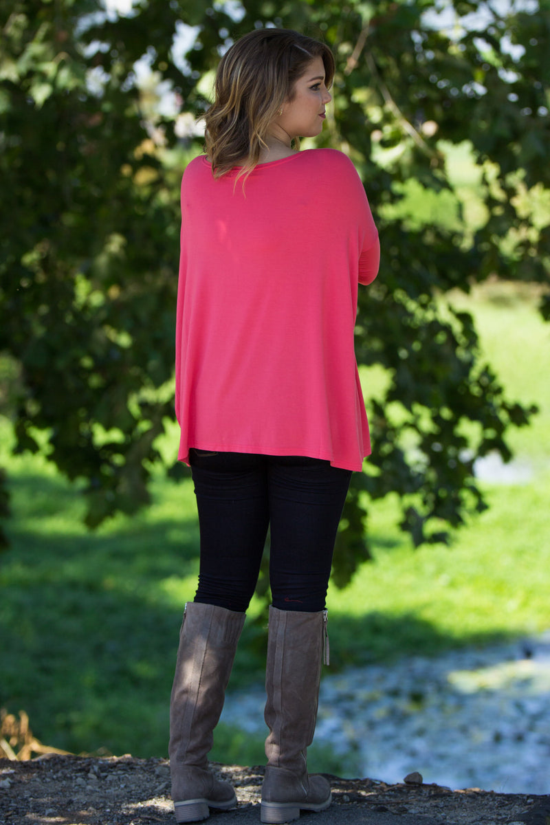The Perfect Piko Top-Coral