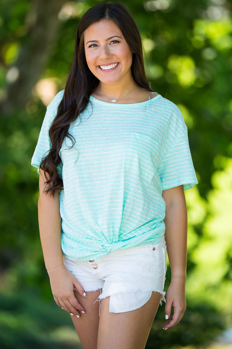 Unfinished Business Top-Mint/White