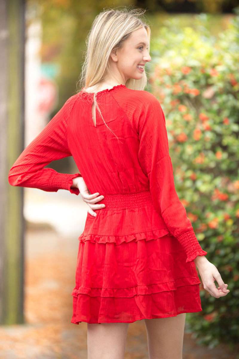 SALE-Accept The Rose Dress - Red