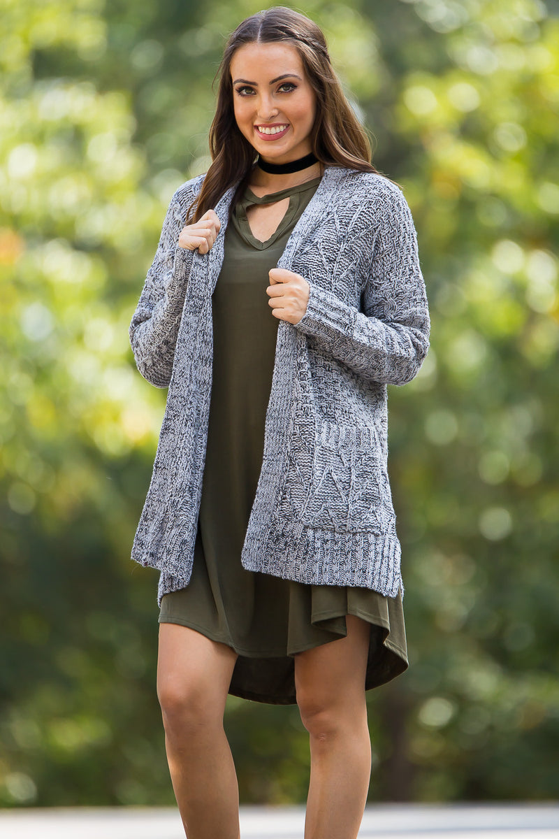 See You Again Sweater Top-Heather Grey
