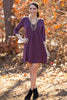SALE- Everly-Shrugg It Off Dress-Plum