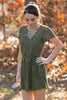 SALE- Wander Away Dress-Olive