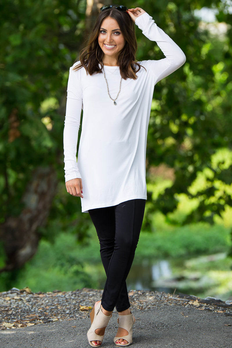 The Perfect Piko Slim Fit Top-Off White