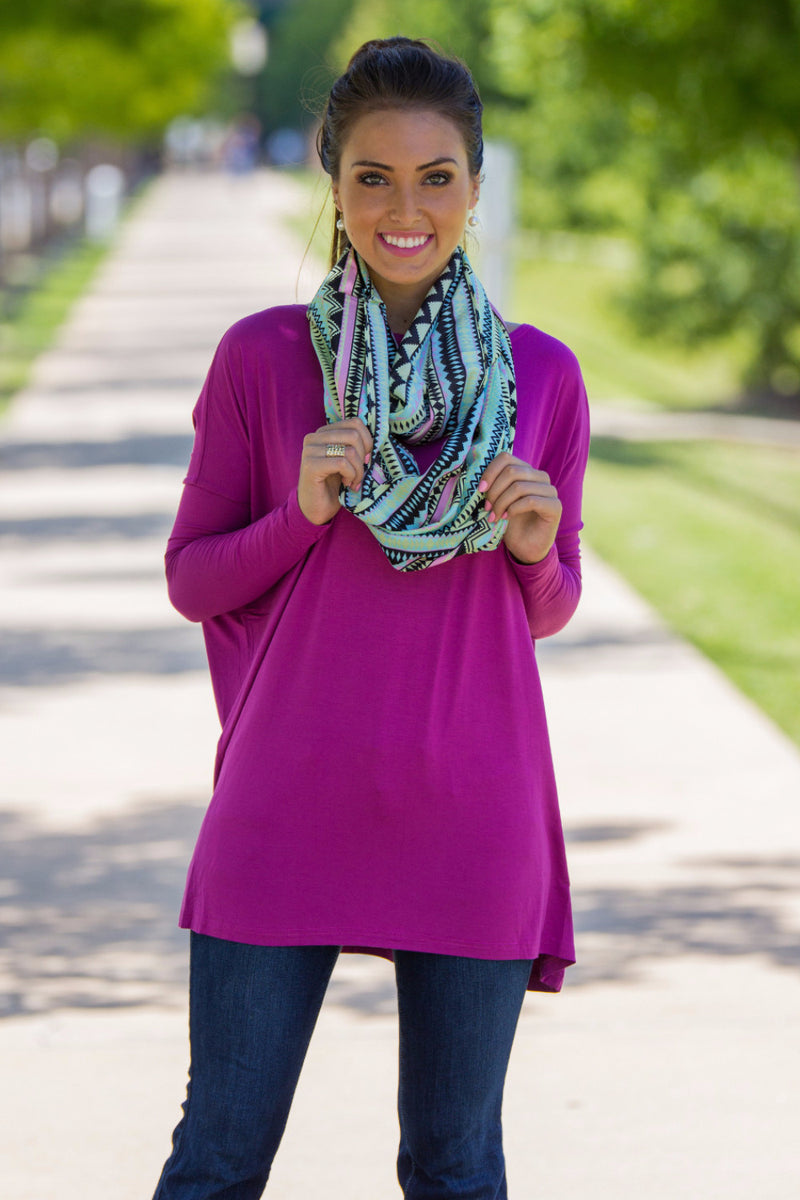 The Perfect Piko Tunic Top-Orchid
