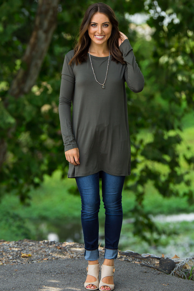 The Perfect Piko Slim Fit Top-Army