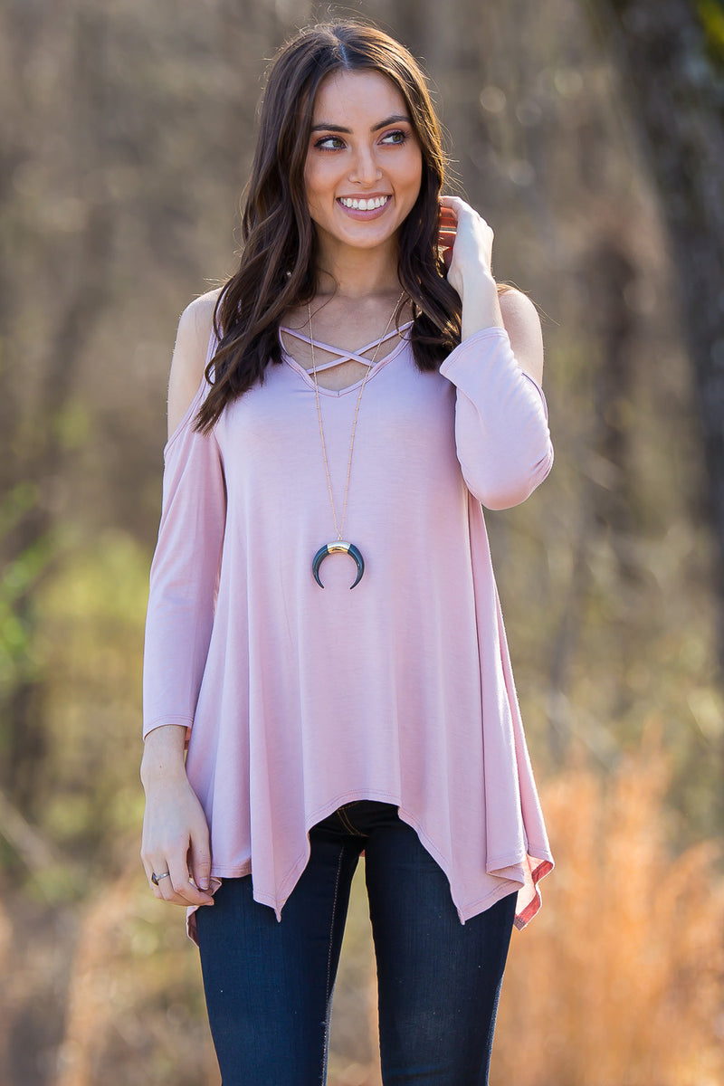 Crush On Casual Top-Light Pink