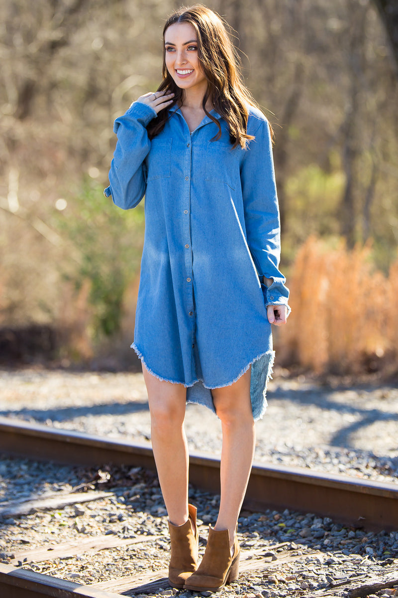 In A Daydream Dress-Chambray