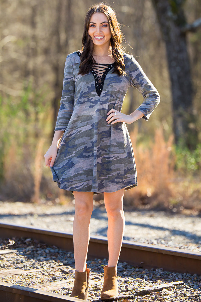 SALE- Cadet Cutie Dress-Army