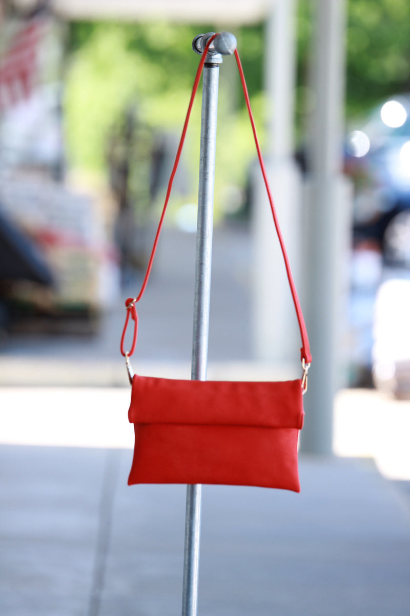 Triple 7 Global- Fold Over Clutch-Red