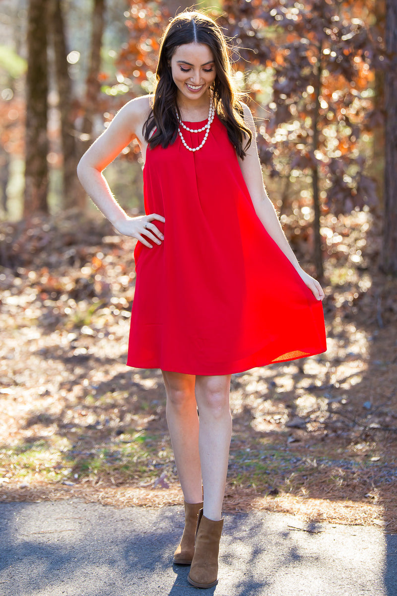 The Perfect Date Dress-Red