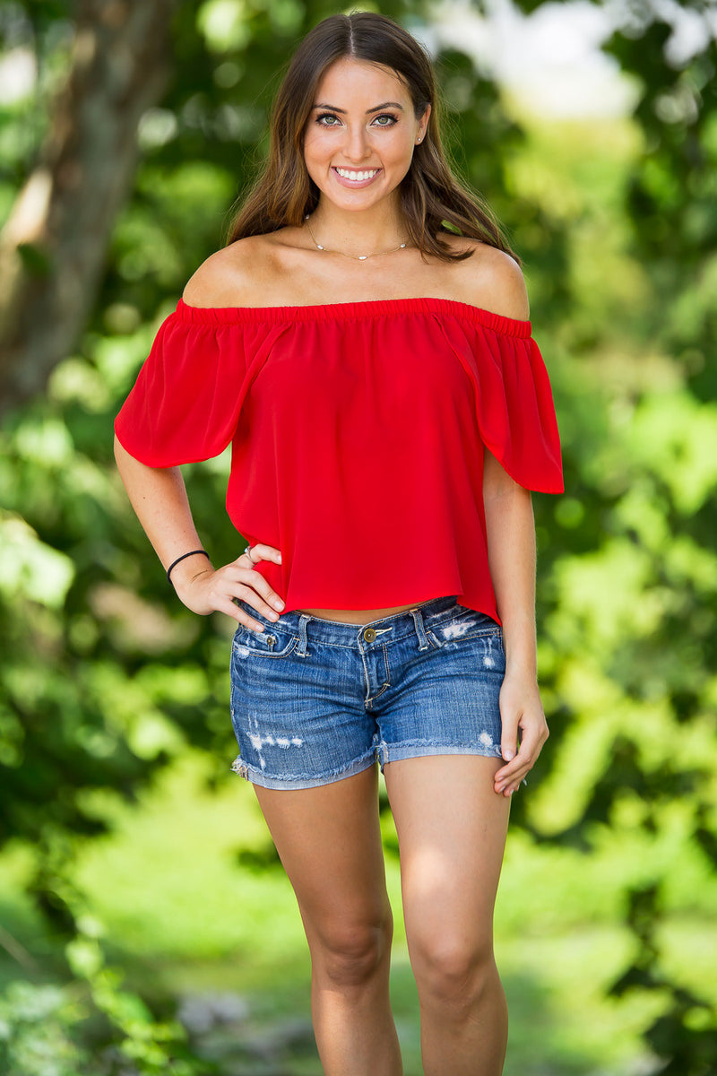 SALE- A Sure Thing Top-Red