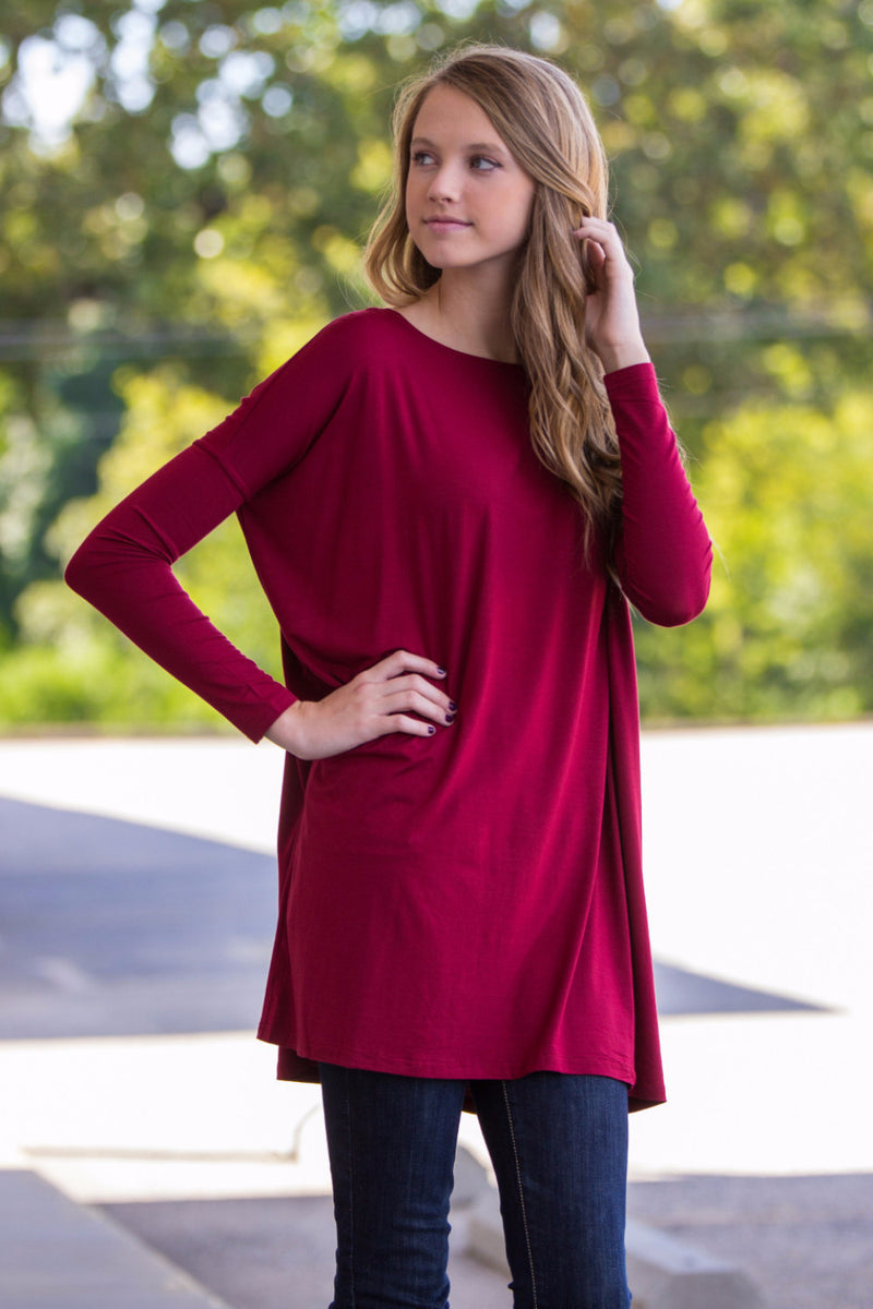 The Perfect Piko Tunic Top-Wine
