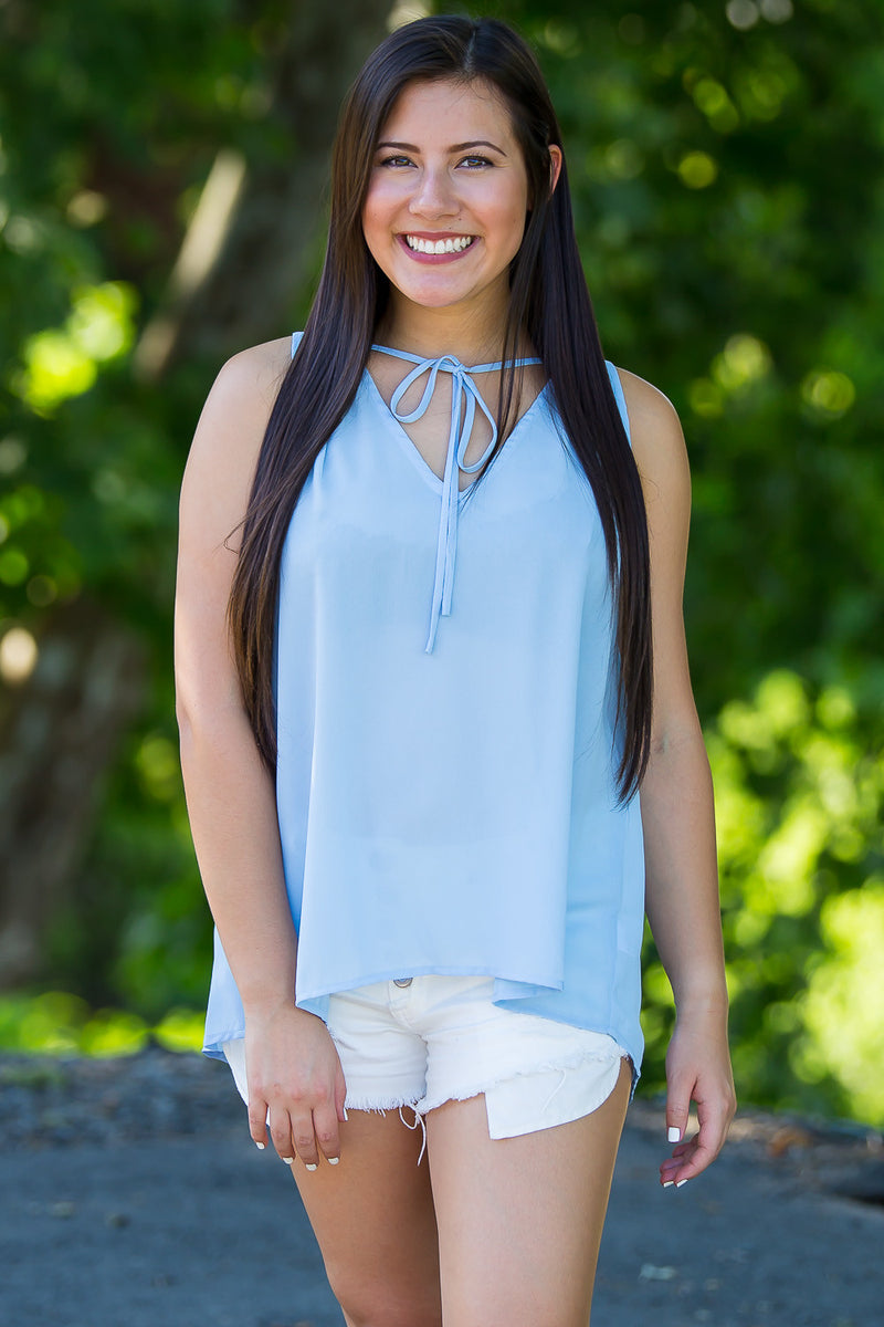 Make Your Getaway Top-Powder Blue