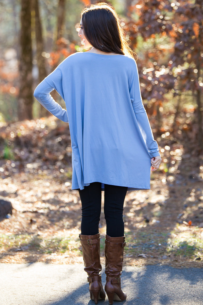 The Perfect Piko Tunic Top-Serenity