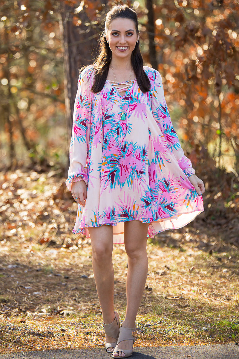 Izzy & Lola-Zion Paradise Lace Up Dress