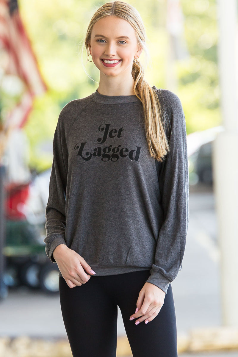 Buddy Love- Cody Jet Lagged Sweatshirt-Dark Grey