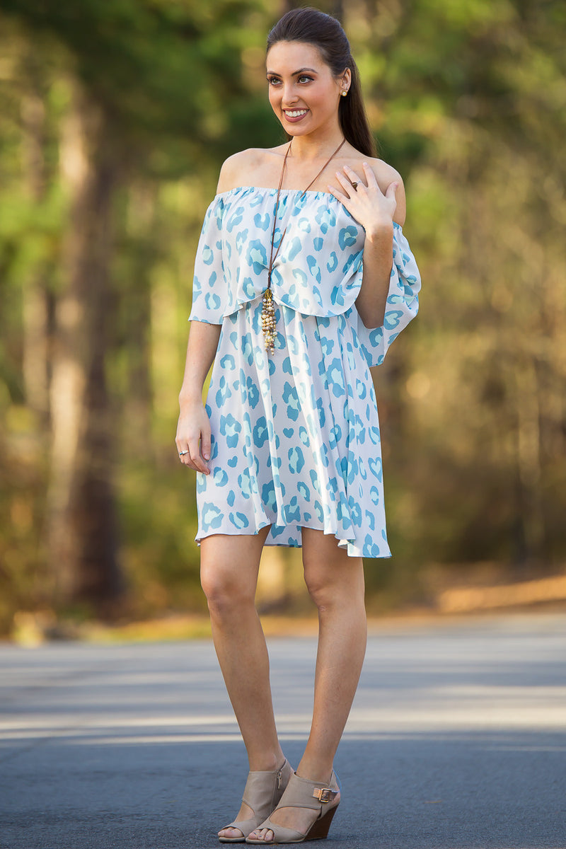 Buddy Love-Ever Off The Shoulder Dress-Spearmint