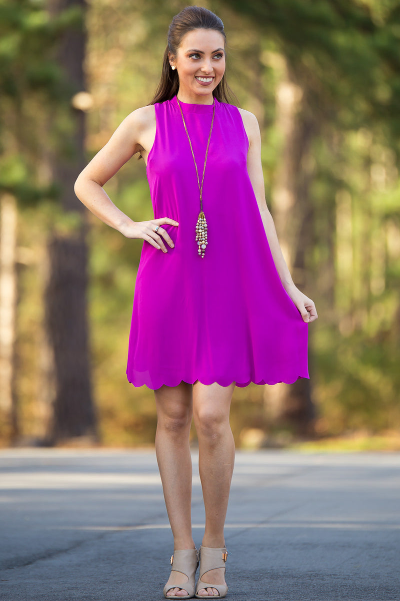 SALE- Everly-Shift In Gear Dress-Violet