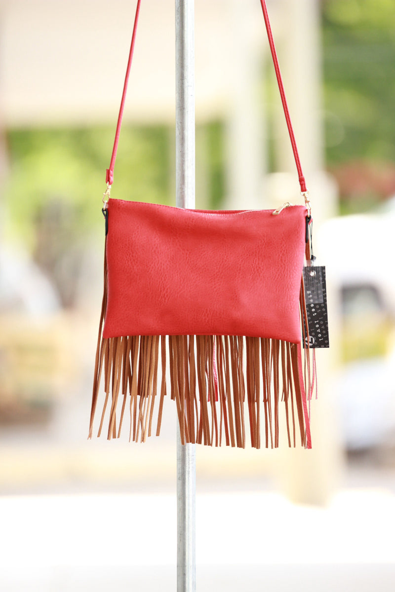 Triple 7 Global Fringe Bag-Red
