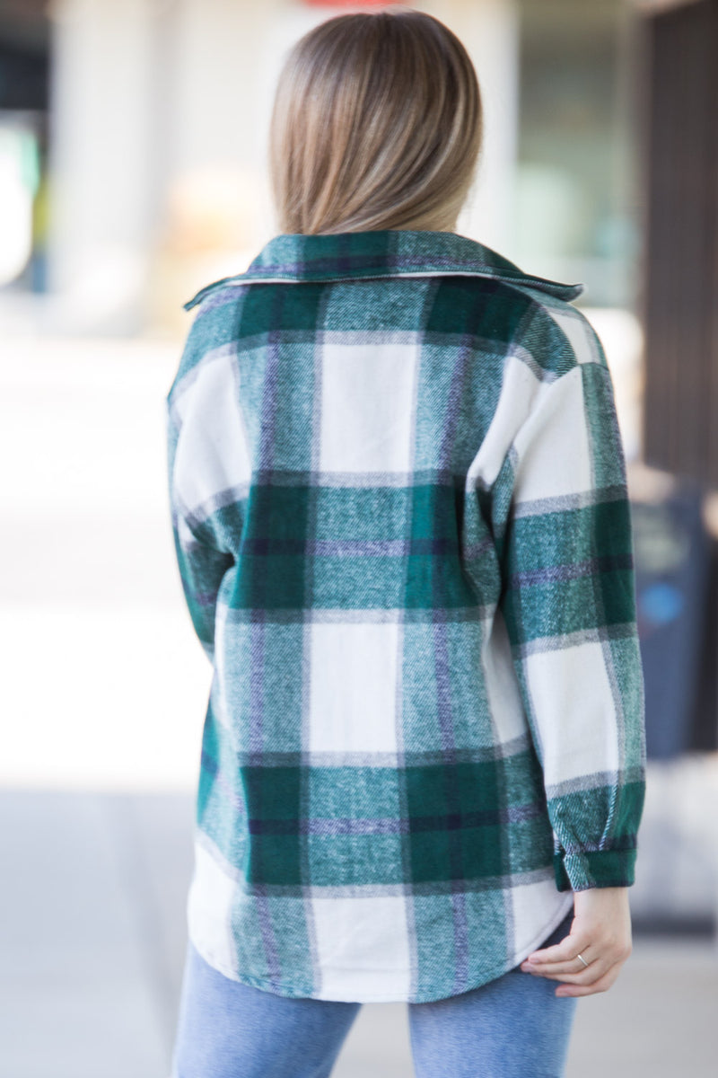 Sunday Up Plaid Flannel - Green