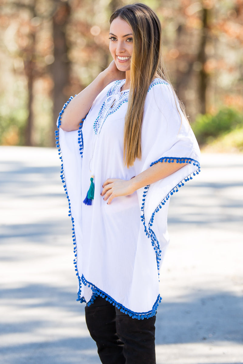 Buddy Basics-Regan Poncho-Blue