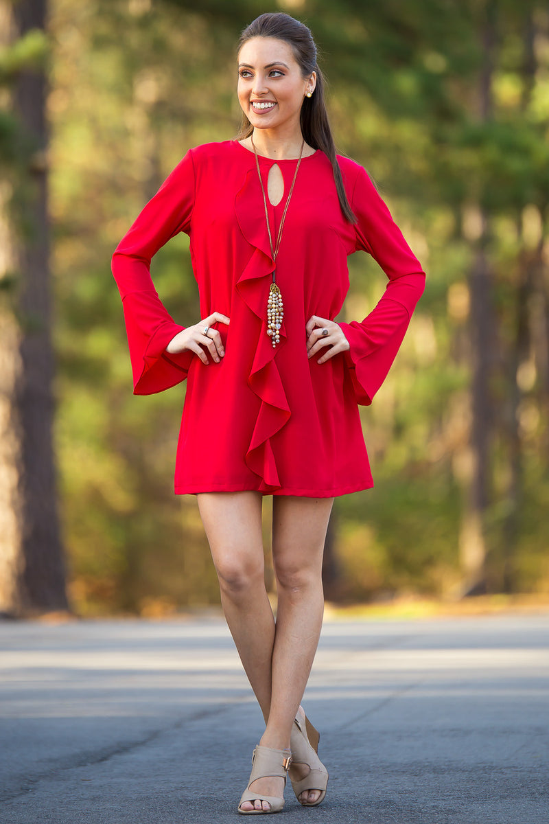 SALE- Adrienne-Be My Valentine Dress-Red