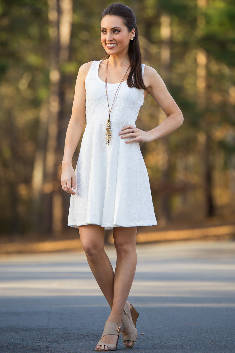 Everly-A-List Lovely Dress-Ivory