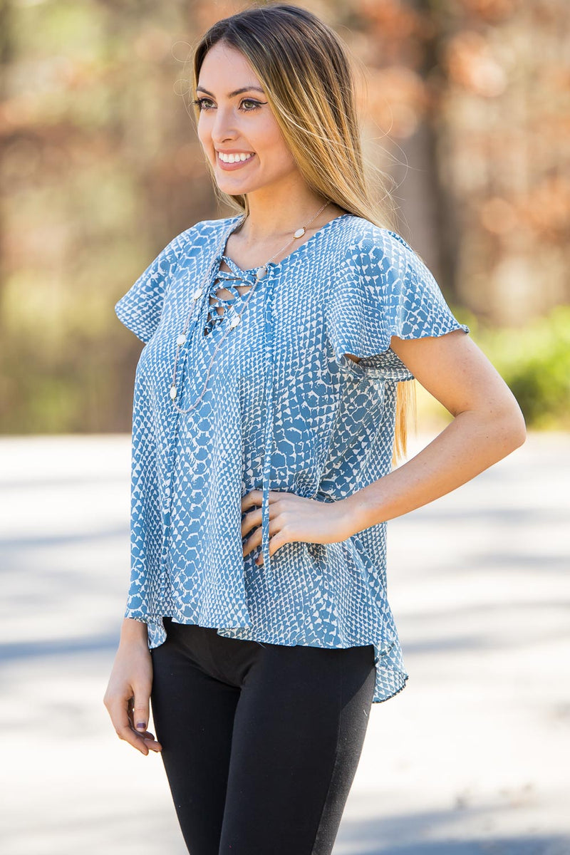 Buddy Love- Unity Dunes Top- Turquoise