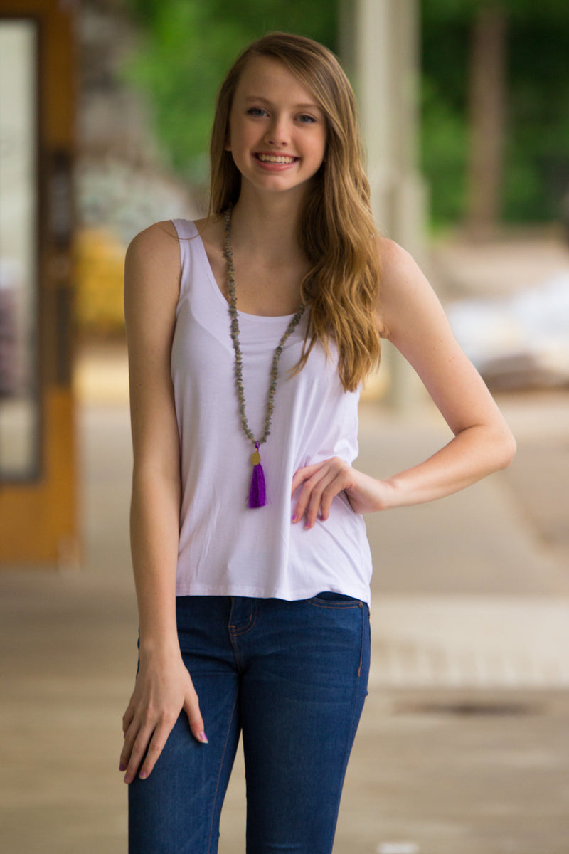 The Perfect Piko Tank Top-White